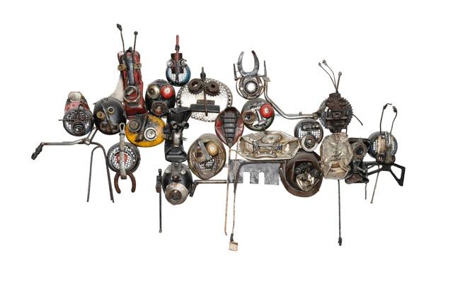 CHARLY_DALMEIDA L'inconscience 2017 - Sculpture assemblage métaux