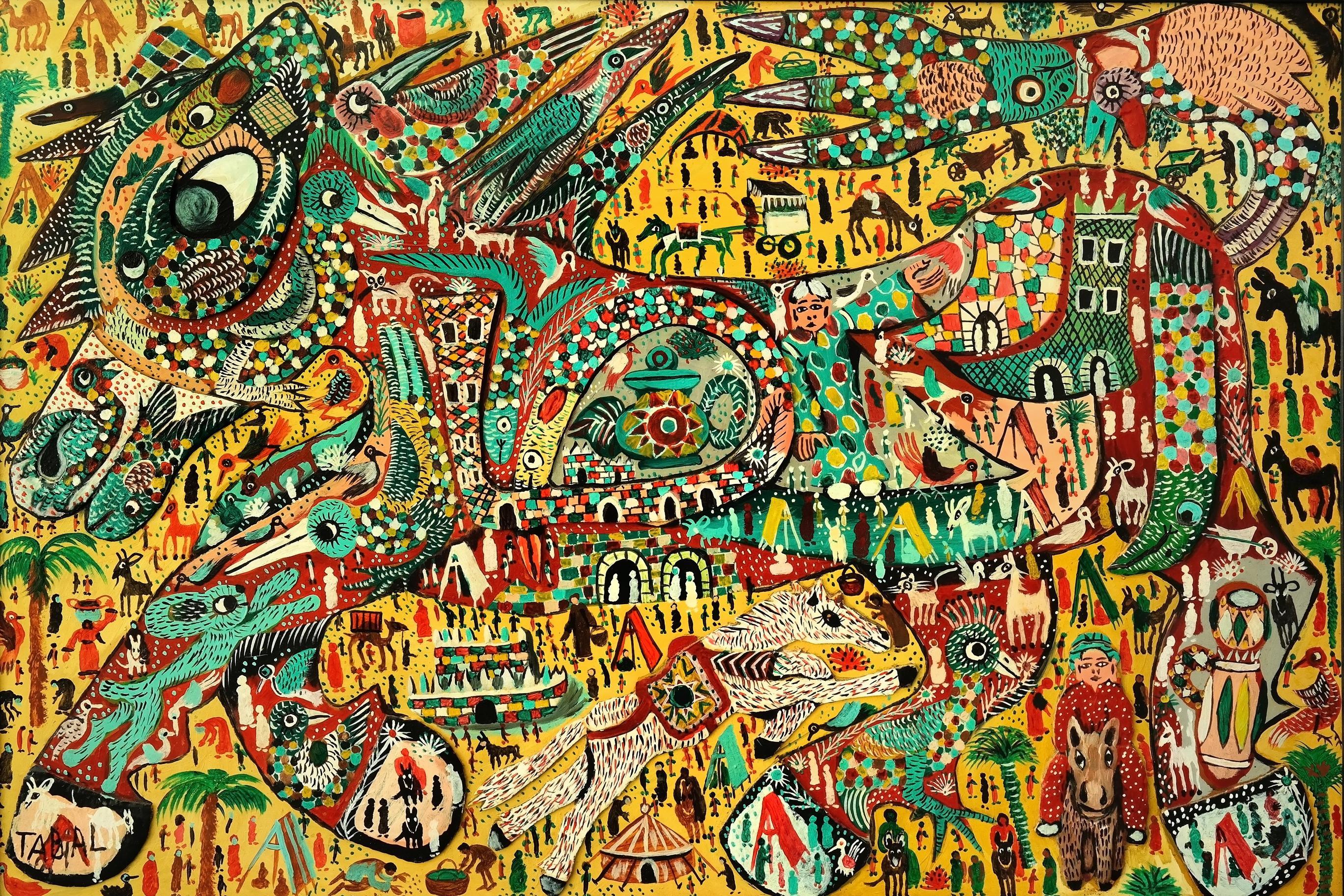 Tabal-Mohamed-83x122-huile-et-collage-sur-panneau-1